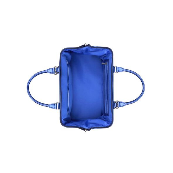 Lipault Miss Plume Bowling Bag M in the color Exotic Blue.