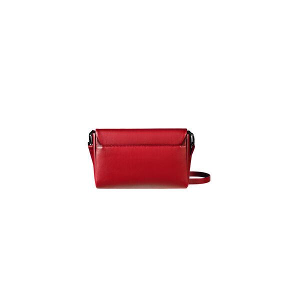 Lipault Plume Elegance Clutch Bag M in the color Ruby Leather.