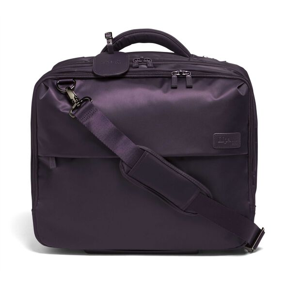 "Lipault Plume Business Rolling Tote 15"" in the color Purple."