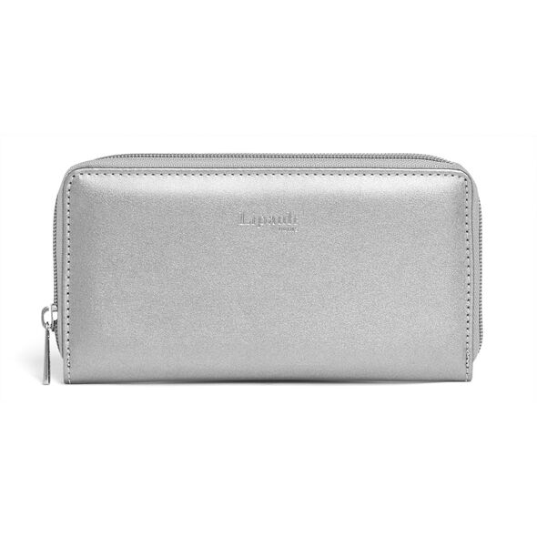 Lipault Miss Plume Zip Around Wallet in the color Titanium.