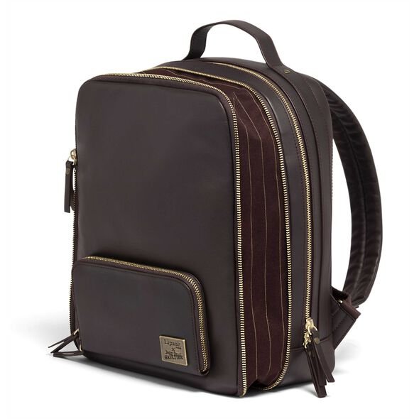 Lipault Jean Paul Gaultier Mix Backpack M in the color Burgundy.
