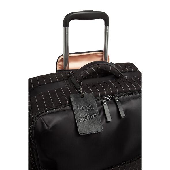 Lipault Jean Paul Gaultier Ampli Spinner 55/20 in the color Black.