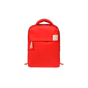 "Lipault Ines De La Fressange Laptop Backpack M 15"" in the color Red."