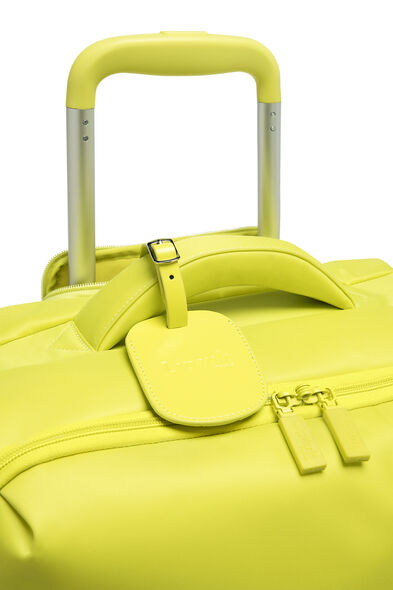 Lipault Original Plume Spinner 55/20 Carry-On in the color Flash Lemon.
