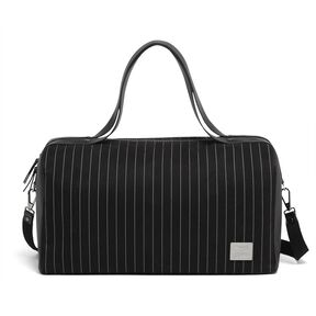 Lipault Jean Paul Gaultier Ampli Duffle Bag in the color Black.