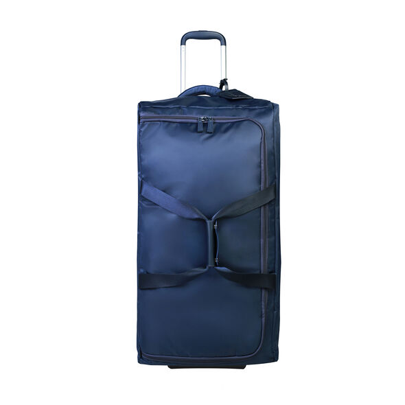 "Lipault 0% Pliable 30"" Wheeled Duffel in the color Navy."