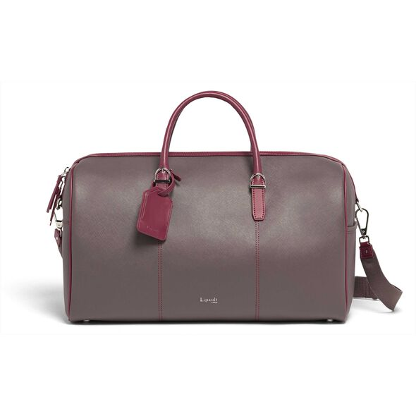 Lipault Variation Duffle Bag in the color Grey/Raspberry.
