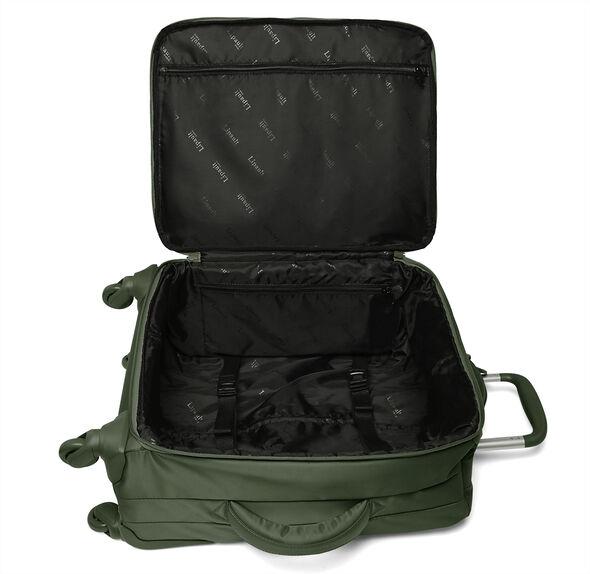 Lipault Original Plume Spinner 65/24 Packing Case in the color Khaki Green.