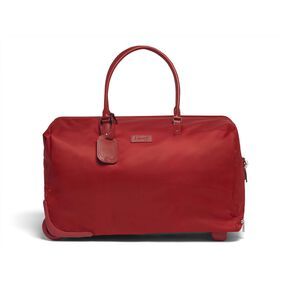 Lipault Lady Plume Wheeled Weekend Bag in the color Cherry Red.