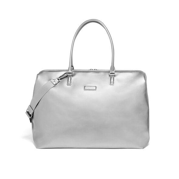 Lipault Miss Plume Weekend Bag M in the color Titanium.