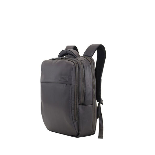 "Lipault Plume Premium 15"" Computer Backpack in the color Grey."