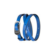 Lipault By The Seine Pin Buckle Bracelet in the color Cobalt Blue.