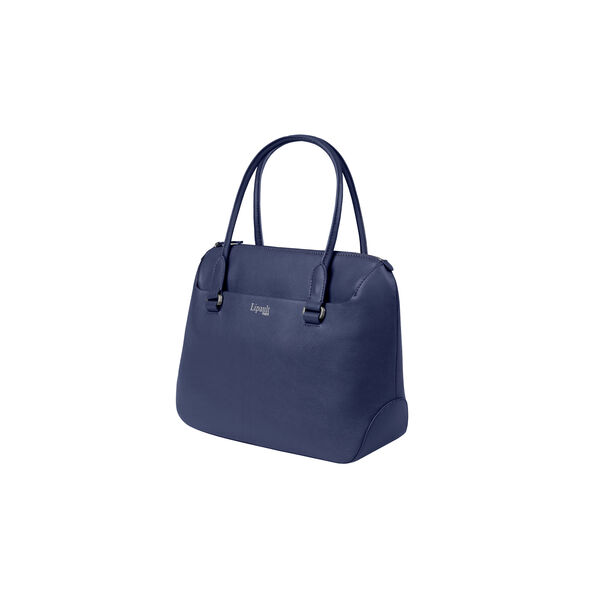 Lipault Plume Elegance Tote Bag S in the color Navy Leather.