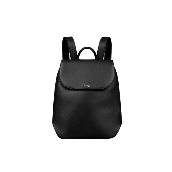 Lipault Plume Elegance Backpack S in the color Black Leather.