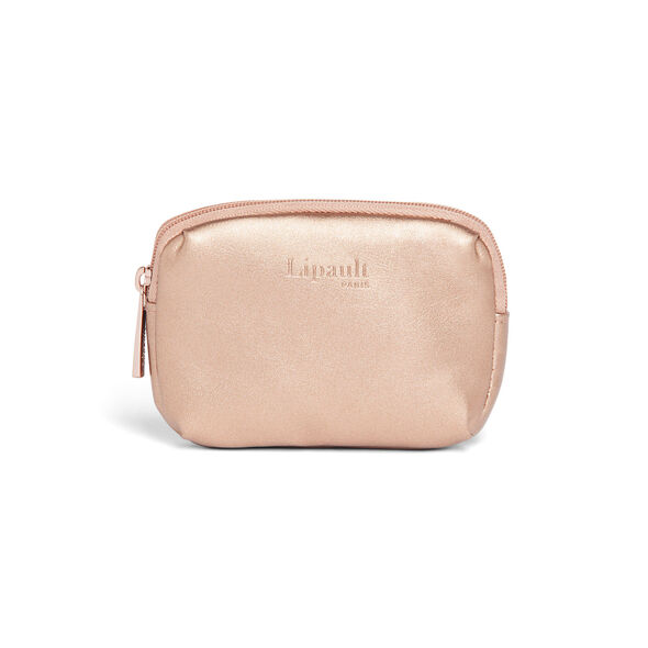 Lipault Miss Plume Coin Purse in the color Pink Gold.