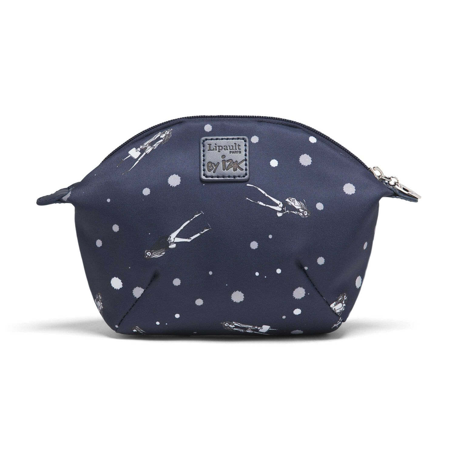 4b4c6c5d7 Lipault Izak Zenou Cosmetic Pouch in the color Pose/Night Blue.
