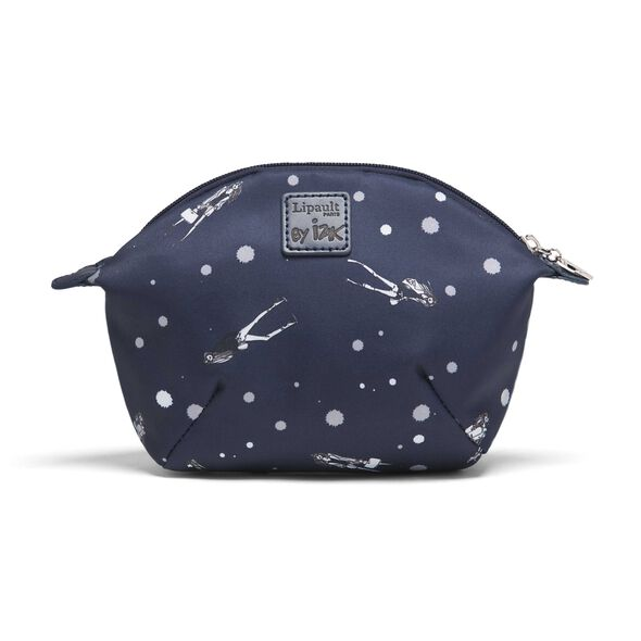 Lipault Izak Zenou Cosmetic Pouch in the color Pose/Night Blue.