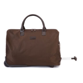 "Lipault Lady Plume 20"" Wheeled Satchel in the color Chocolate."