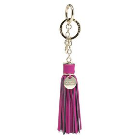 Lipault Fashion Accessories Bag Charm Tassel in the color Sweet Fuchsia.