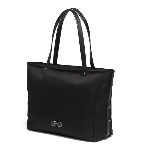Lipault Business Avenue Laptop Tote Bag in the color Jet Black.
