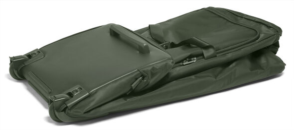 "Lipault 0% Pliable 30"" Wheeled Duffel in the color Khaki Green."