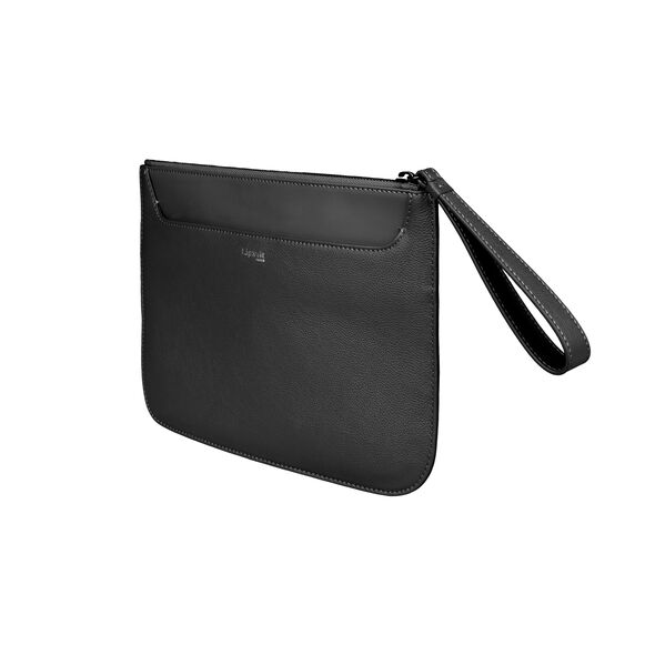 Lipault Plume Elegance Clutch in the color Black Leather.