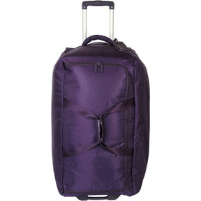 "Lipault 0% Pliable 30"" Wheeled Duffel in the color Purple."