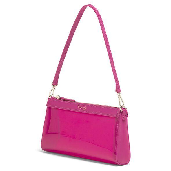 Lipault Pop N Gum Small Clutch Bag in the color Deep Fuchsia.