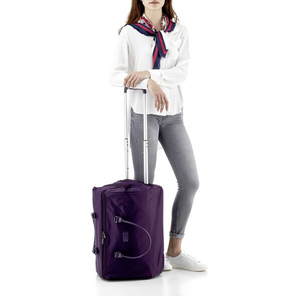 Lipault Lady Plume Wheeled Weekend Bag in the color Purple.