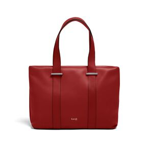 Lipault By The Seine Large Tote Bag in the color Cherry Red.