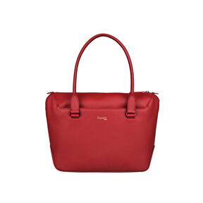 Lipault Plume Elegance Tote Bag S in the color Ruby Leather.