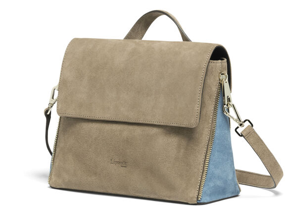 Lipault Rendez-Vous Crossbody Bag in the color Dark Taupe/Icy Blue.