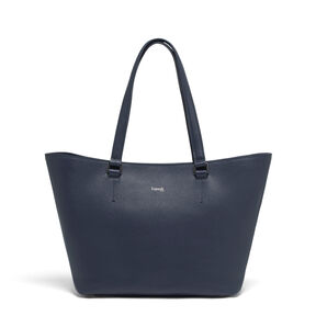 Lipault Invitation Leather Tote Bag in the color Navy.