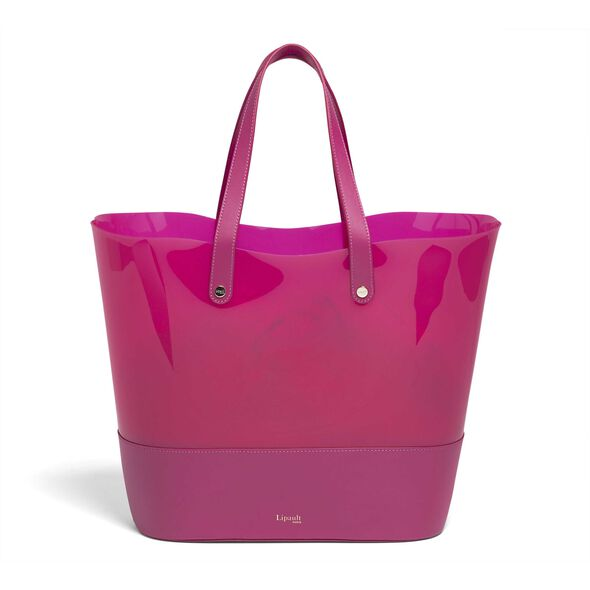Lipault Pop 'N' Gum Beach Bag in the color Deep Fuchsia.