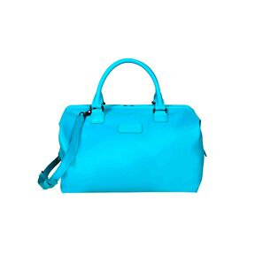 Lipault Lady Plume Bowling Bag M in the color Riviera Blue.