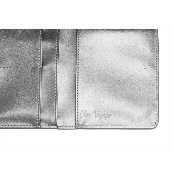Lipault Miss Plume Passport Cover in the color Titanium.