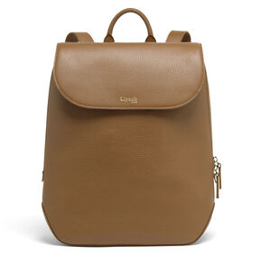 Lipault Invitation Medium Laptop Backpack in the color Caramel.