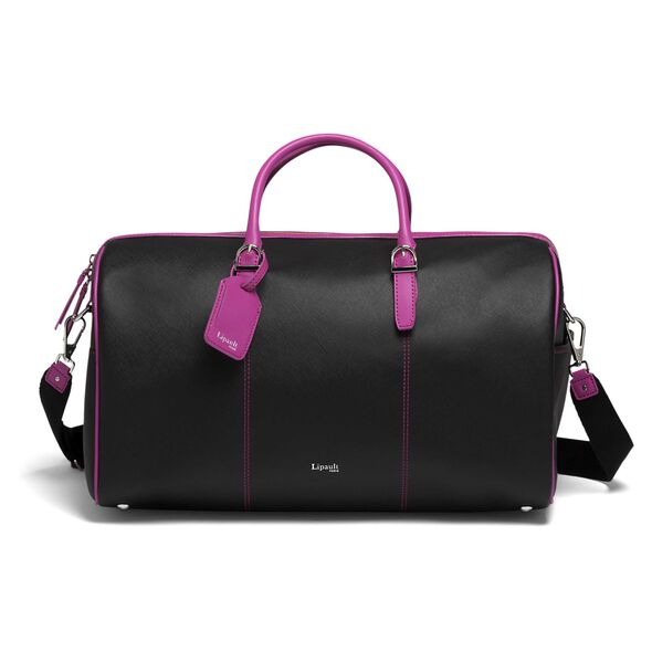 Lipault Variation Duffle Bag in the color Black/Sweet Fuchsia.
