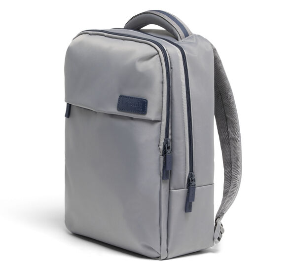 Lipault Plume Business Laptop Backpack M in the color Pearl Grey/Navy.