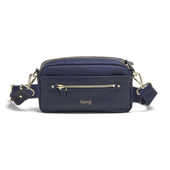 Lipault Plume Avenue Belt Bag in the color Night Blue.