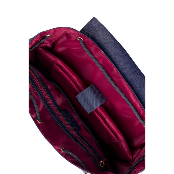 """Lipault Plume Avenue 15"""" Laptop Backpack in the color Night Blue."""