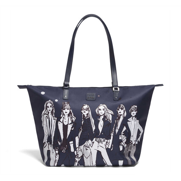 Lipault Izak Zenou Tote Bag M in the color Pose/Night Blue.