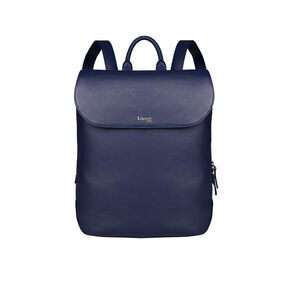 Lipault Plume Elegance Laptop Backpack M in the color Navy Leather.