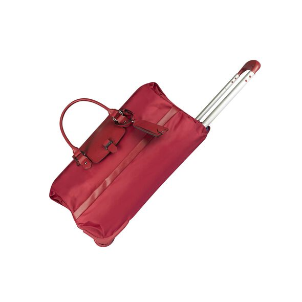 Lipault Plume Avenue Wheeled Duffle Bag in the color Garnet Red.