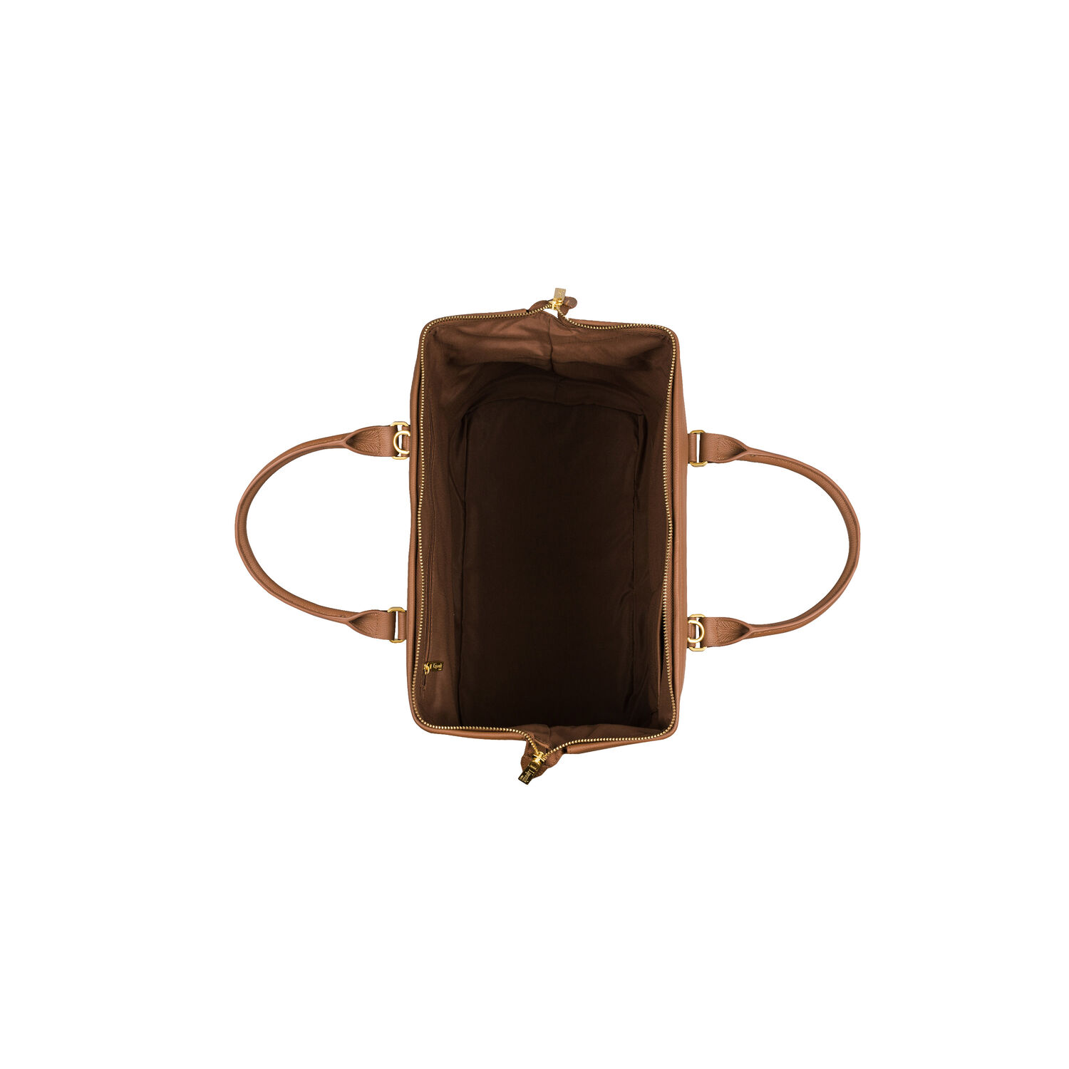 Lipault Plume Elegance Bowling Bag M In The Color Cognac Leather
