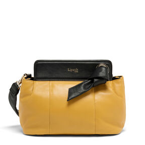 Lipault Noelie Crossbody Bag in the color Mustard.