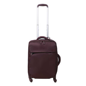 Lipault Original Plume Spinner 55/20 Carry-On in the color Wine Red.