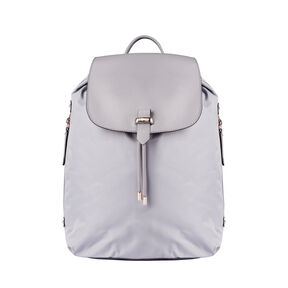 "Lipault Plume Avenue 15"" Laptop Backpack in the color Mineral Grey."
