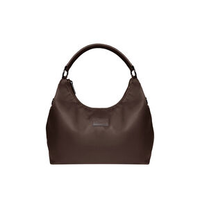 Lipault Lady Plume Hobo Bag L in the color Chocolate.
