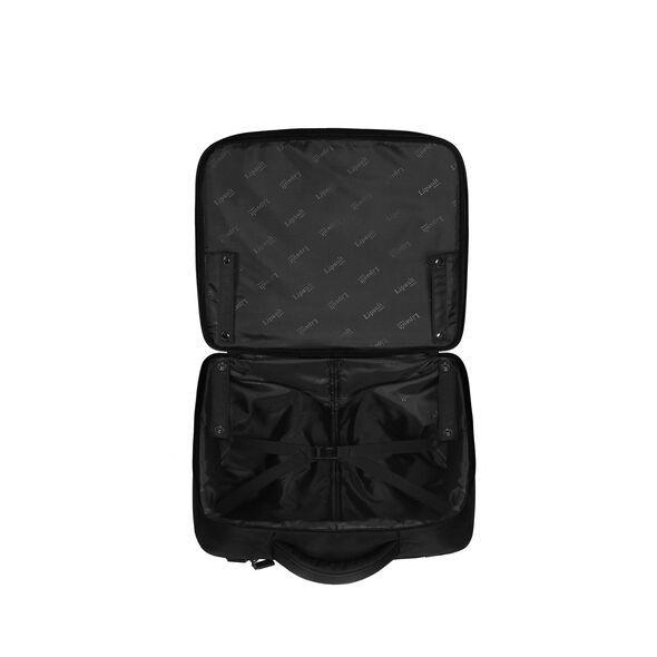 "Lipault Plume Business Rolling Tote 15"" in the color Black."